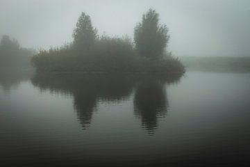 Eiland in de mist van Edwin Muller
