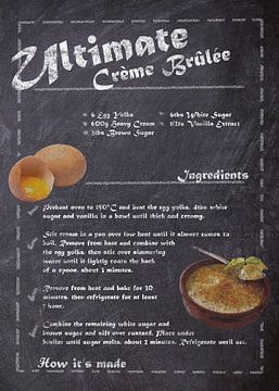 Recipe Dessert - Crème Brûlée van JayJay Artworks