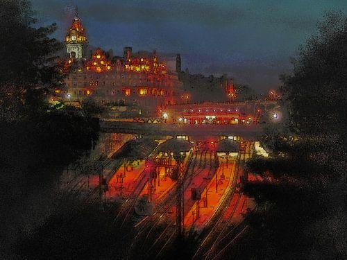 Edinburgh by night van Frans Blok