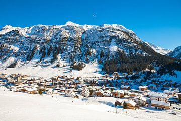 Lech am Arlberg in Oostenrijk van Werner Dieterich
