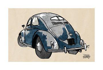 VW kever sur Pieter Hogenbirk