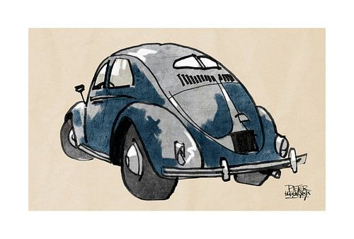 VW kever van Pieter Hogenbirk