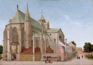 Utrecht, Mariaplaats mit der Mariakerk, Pieter Jansz. Saenredam - 1659 von Atelier Liesjes