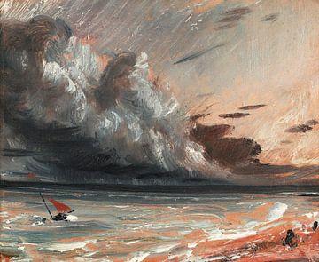 Untersuchung der Meereslandschaft: Boot und stürmischer Himmel, John Constable
