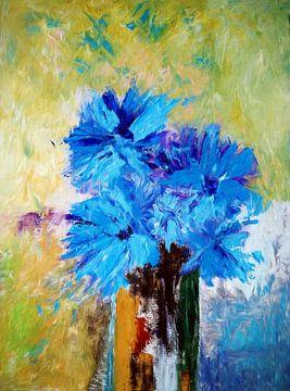 Bleu Floral sur Angel Estevez