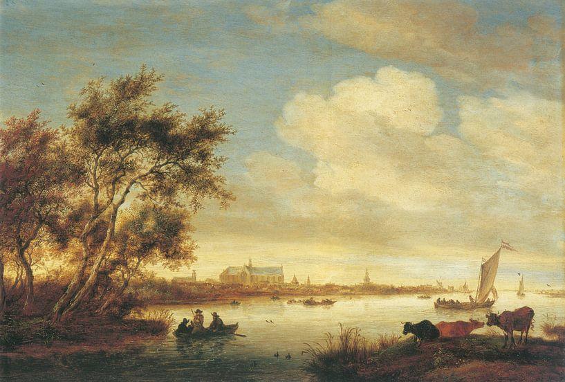 Laurenskerk von Norden gesehen, Salomon van Ruysdael von Meesterlijcke Meesters
