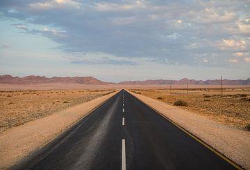 De weg van Lüderitz naar Keetmanshoop in Namibië van Teun Janssen