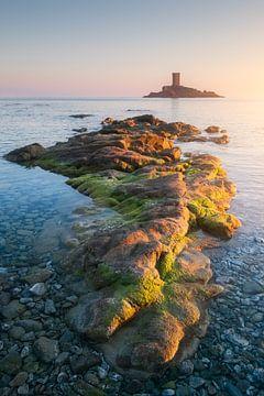Sonnenuntergang über dem Dramont und der Goldenen Insel von Yannick Lefevre