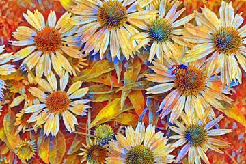 Weisse Blumen Abstrakt von Patricia Piotrak