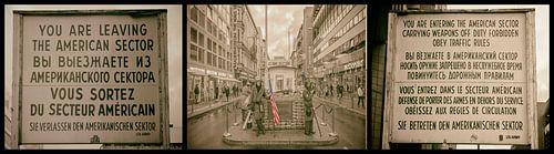 Collage Checkpoint Charlie van Amsterdam Fotografie (Peter Bartelings)