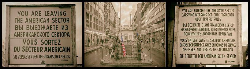 Collage Checkpoint Charlie van Foto Amsterdam / Peter Bartelings