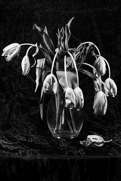 Tulpen in einer Glasvase von Roland de Zeeuw fotografie