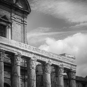 Italië in vierkant zwart wit, Rome van Teun Ruijters