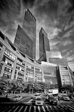 NYC Columbus Circle | Monochrome van Melanie Viola