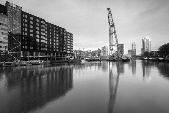 Leuvehaven Rotterdam bij zonsopkomst van Ilya Korzelius