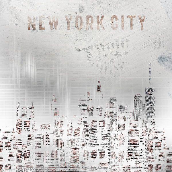 MODERN ART New York City Skylines   shabby chic van Melanie Viola