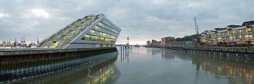 Hamburg Dockland Panorama van Borg Enders