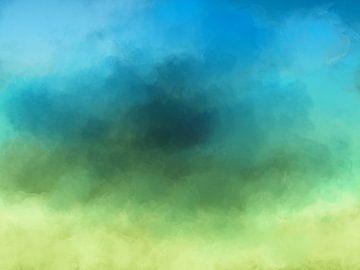 Geel groen blauw van Jan Brons