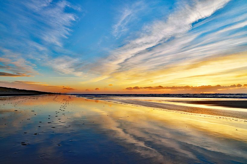 Zee weerspiegeling van Jaap Spaans