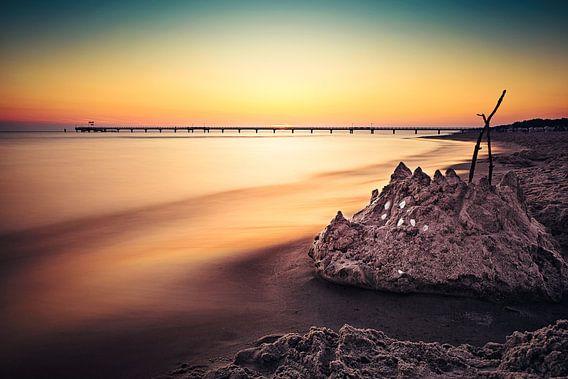 Goldene Seebrücke (Prerow / Darß) van Dirk Wiemer