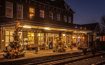 Station Simpelveld in Kerstsfeer