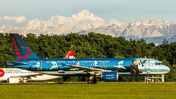 Brussels airlines in speciale kleuren