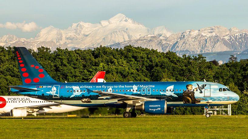 Brussels airlines in speciale kleuren van Dennis Dieleman