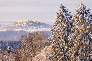 Blick zur winterlichen Augustusburg von Daniela Beyer