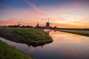 Zonsopgang in typisch Hollands landschap van
