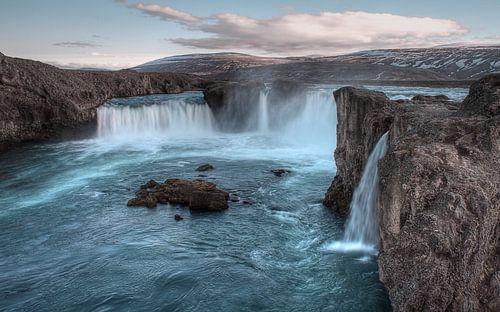 Goðafoss Waterfall van BL Photography