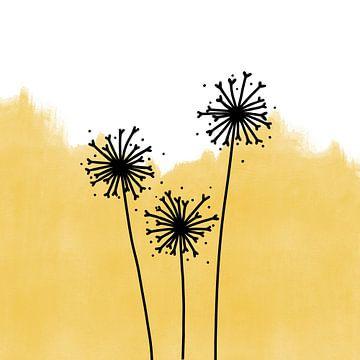 Pusteblumen gelb von Sophia Amend