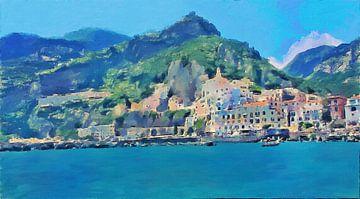 Italië - Amalfikust - Amalfi - Schilderij van Schildersatelier van der Ven