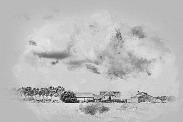 Bauernhof in die Niederlande von Art by Jeronimo