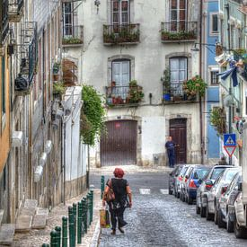 Huizen in de Bairro Mouraria, Lissabon, Portugal van Torsten Krüger