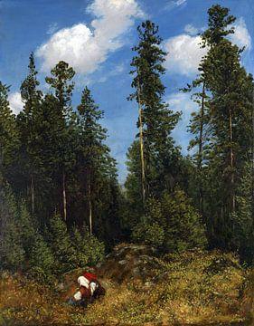 Schwarzwaldtannen (Beerenpflückerinnen), HANS THOMA, 1884 von Atelier Liesjes