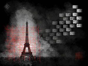Eiffeltoren in nevelen gehuld van Greta Lipman