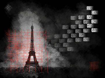 Eiffelturm in Nebel gehüllt von Greta Lipman
