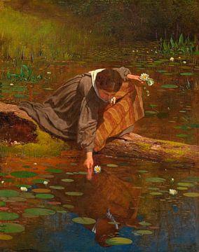 Lilien sammeln, Eastman Johnson