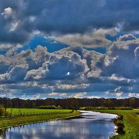 Rivier de Berkel - Hollands landschap in de Achterhoek (Almen) von Loraine van der Sande