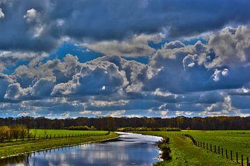 Rivier de Berkel - Hollands landschap in de Achterhoek (Almen) van Loraine van der Sande