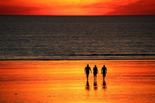 Zonsondergang met Vrienden, Broome, Australië