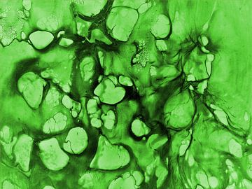 Zellen 2 - grün van Katrin Behr