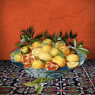 Citrus Fruits - A Still Life sur Marja van den Hurk