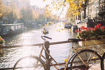 Fiets in Amsterdam von Patrycja Polechonska