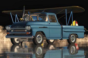 Chevrolet Apache De klassieke pick-up van 1959 van Jan Keteleer