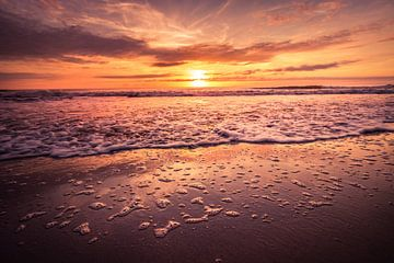 Zonsondergang aan het strand von Rob Eijfferts