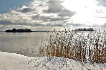 Winterstrand Veluwemeer van On The Road Foto