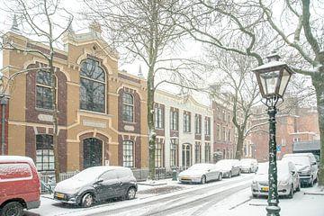 Leiden in de sneeuw/Gymnastiekschool von Dirk van Egmond