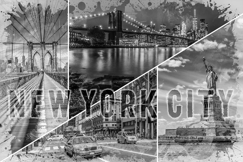 NEW YORK CITY Urban Collage No. 2 van Melanie Viola