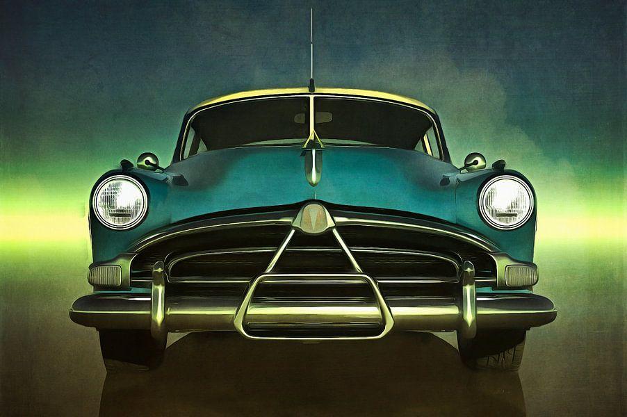 Old-timer Hudson Hornet van Jan Keteleer